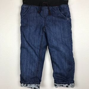3/$20 Disney Boys Cuffed Lined Jeans Size 3T